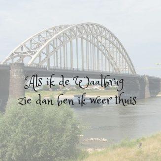 Als ik de Waalbrug zie Tegeltje